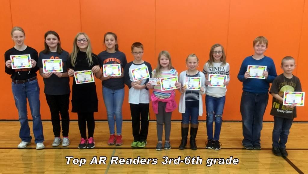 Top AR Readers 3rd-6th grade