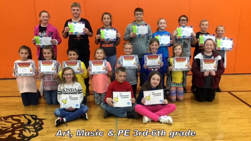 Art, Music & PE 3rd-6th grade