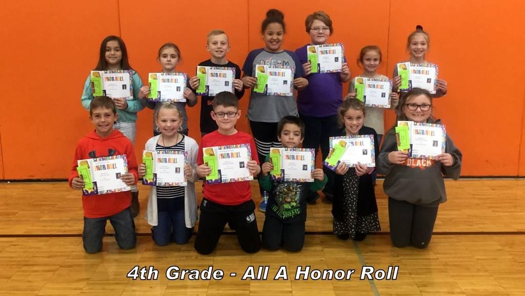 4th Grade - All A Honor Roll