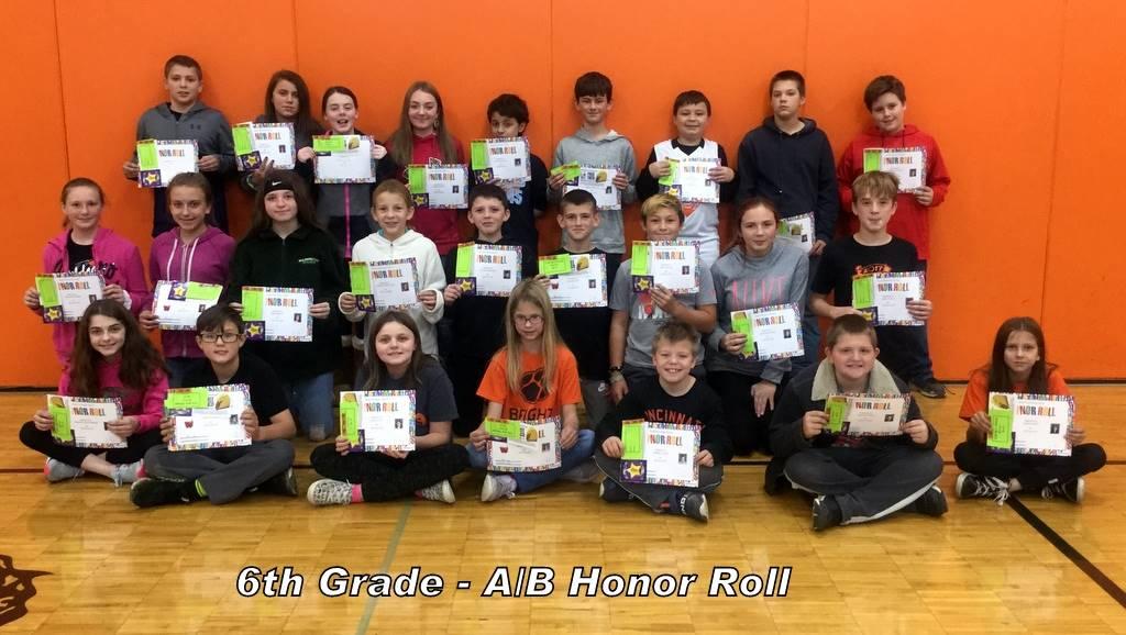6th Grade - A/B Honor Roll