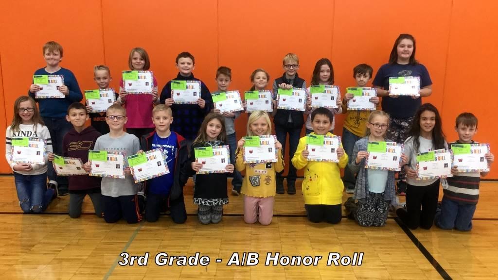 3rd Grade - A/B Honor Roll
