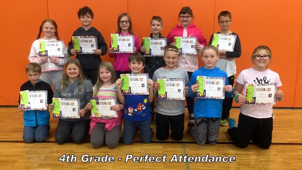 4th Grade - Perfect Attendance