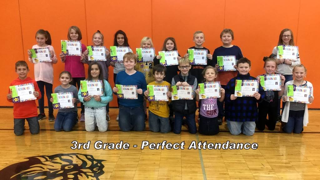 3rd Grade - Perfect Attendance