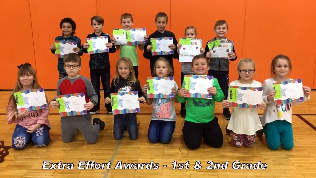 Extra Effort Awards - 1st & 2nd Grade