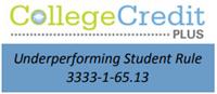 Underperforming Student Rule 3333-1-65.13