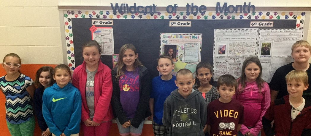 Bright Elementary Wildcats of the Month - October 2017