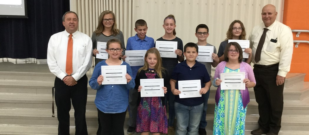 Students recognized at the October 17, 2017 Board Meeting
