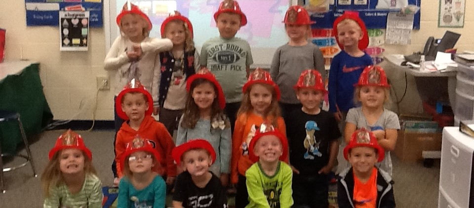 Preschoolers learning about Fire Safety!
