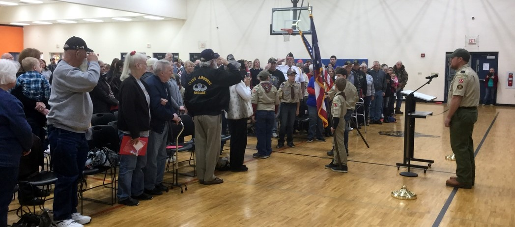 Bright Elementary Veterans Day Assembly 2017