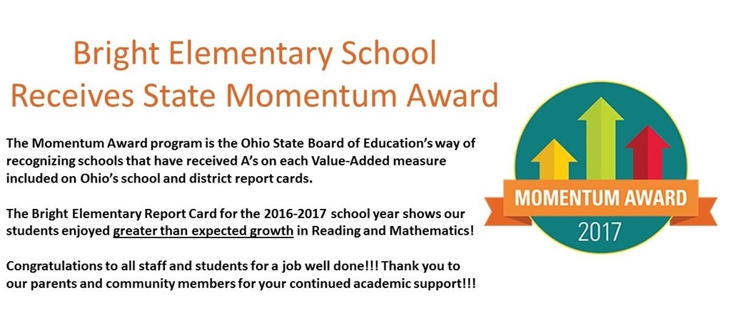 Bright Elementary School Receives State Momentum Award