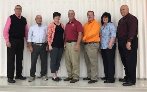 Members (l to r); Randy Drewyor (Treasurer), John Hern, Angie Wright (President),  Mike Ames, Stuart