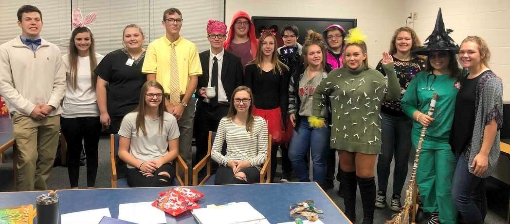 NHS students go all out for Halloween.