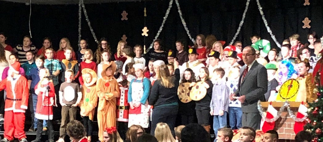 Bright Elementary Gingerbread Christmas Winter Program