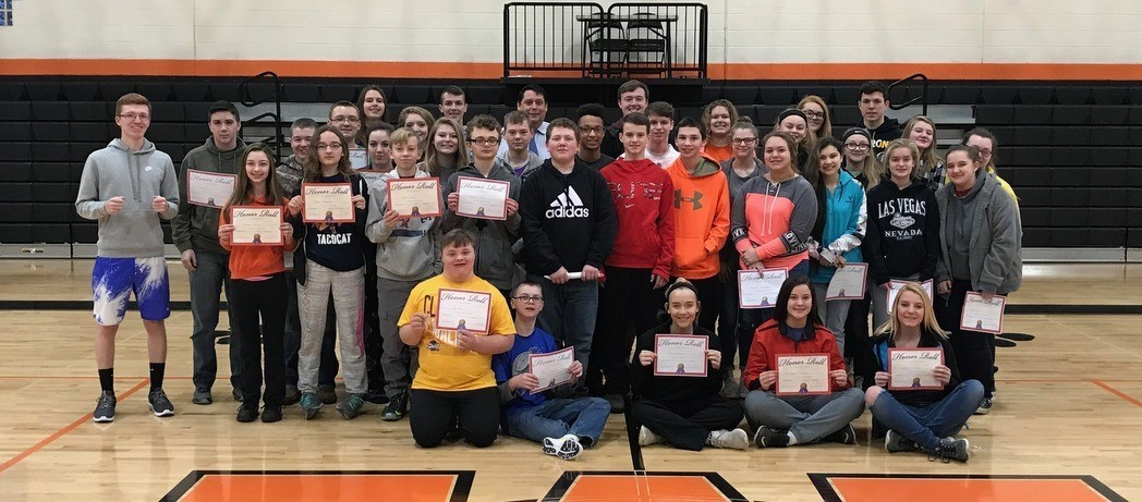 Whiteoak Jr./Sr. High School Students - ALL A Honor Roll - 2nd Nine Weeks - 2017-18