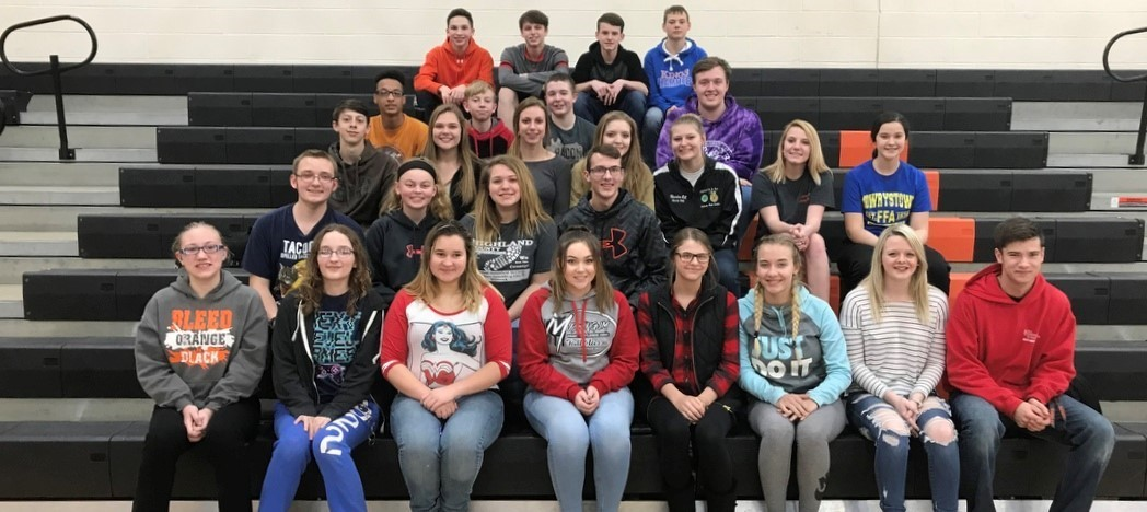 Whiteoak Jr./Sr. High School Students - All A Honor Roll - 3rd Nine Weeks - 2017-18