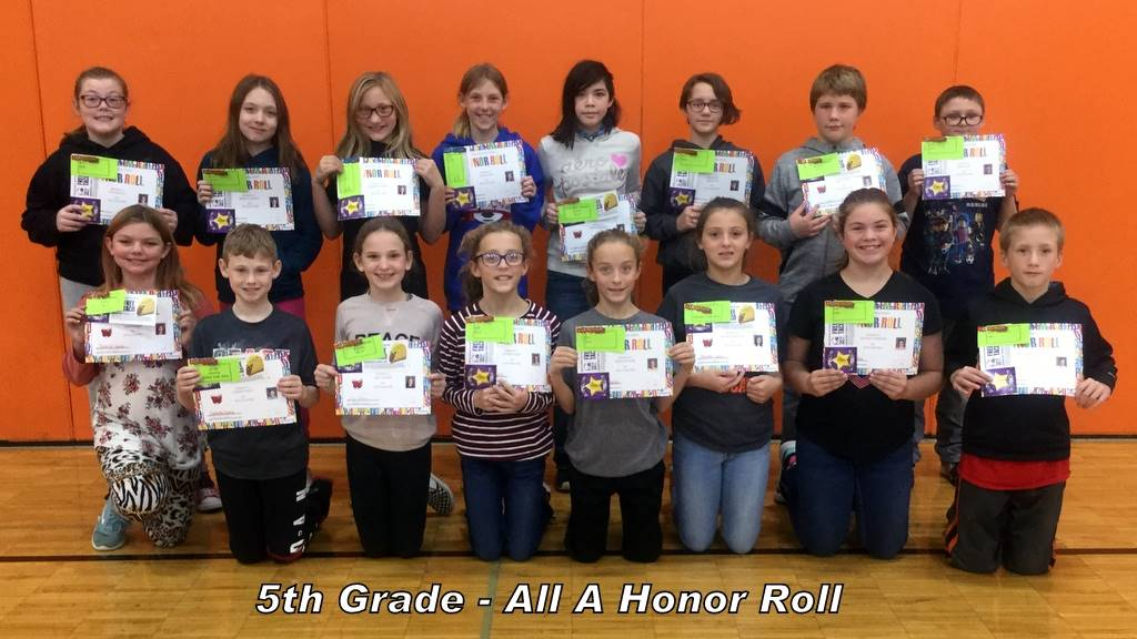 5th Grade - All A Honor Roll