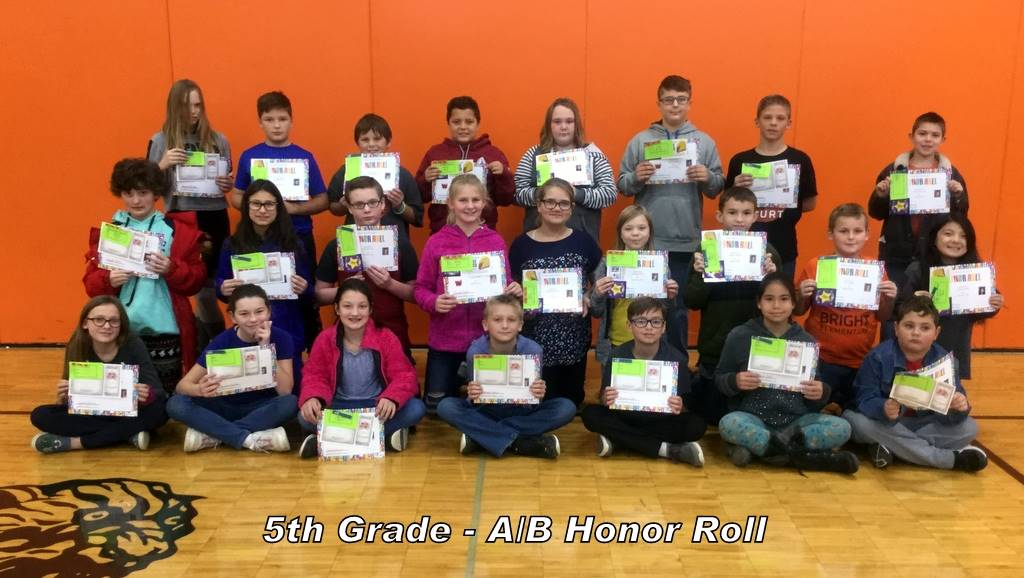 5th Grade - A/B Honor Roll