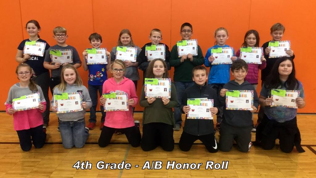 4th Grade - A/B Honor Roll