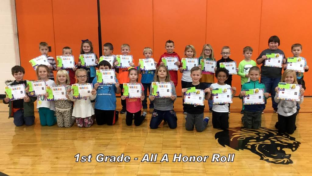 1st Grade - All A Honor Roll