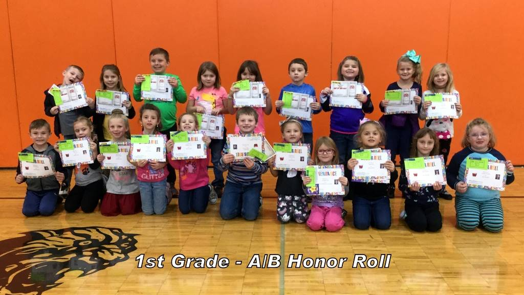 1st Grade - A/B Honor Roll