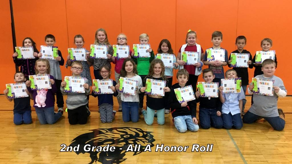 2nd Grade - All A Honor Roll