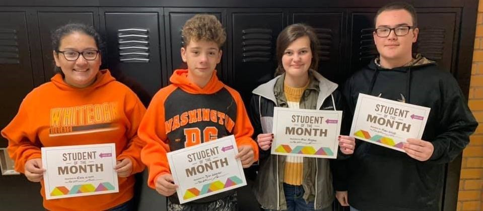 Whiteoak Students of the Month - November 2019