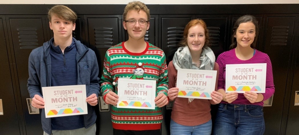 CONGRATULATIONS to the Whiteoak Students of the Month for January 2019
