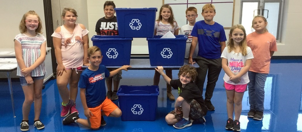 Bright Elementary students start recycling program