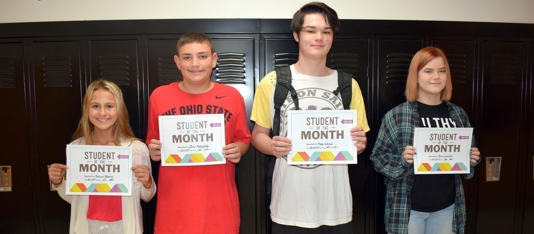 """Whiteoak """"Students of the Month"""" - October 2019"""