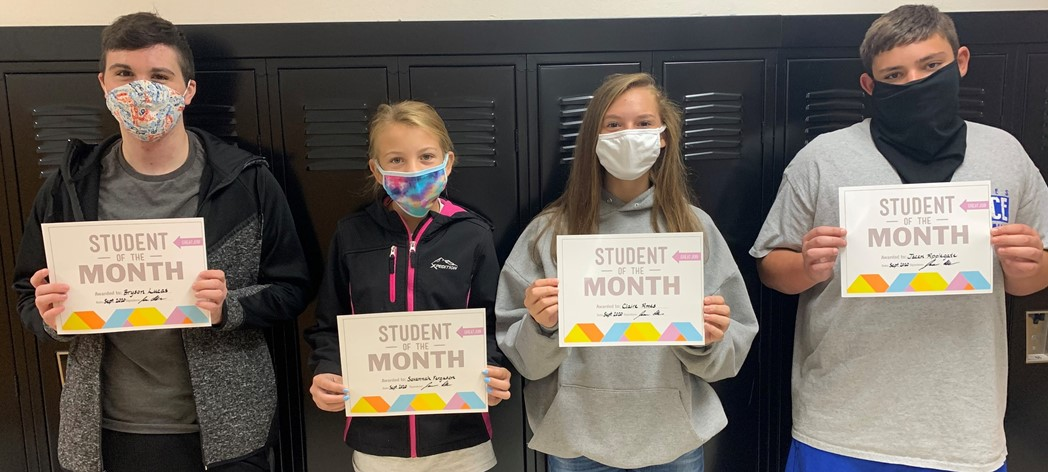 September 2020 Students of the Month