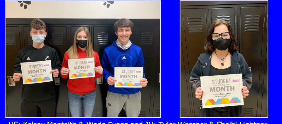 """Whiteoak """"Students of the Month"""" - February 2021"""