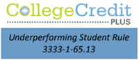 Underperforming Student Rule 3333-1-65.13