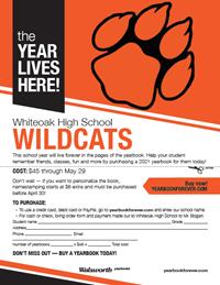 2021 yearbook flyer